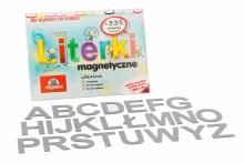 Alfabet Magnetyczny 5 cm - DUŻE Litery w kolorze szarym