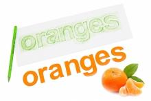 Alfabet Magnetyczny 5 cm - małe litery w kolorze pomarańczowym