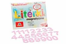 5 cm Magnetyczne Cyfry - kolor różowy