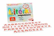 Alfabet magnetyczny 2,5 cm - DUŻE Litery - kafelki w kolorze czerwonym