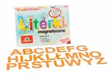 Alfabet Magnetyczny 5 cm - DUŻE Litery w kolorze pomarańczowym