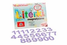 5 cm Magnetyczne Cyfry - kolor lawendowy