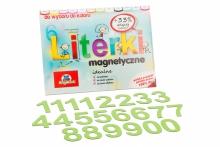 5 cm Magnetyczne Cyfry - kolor seledynowy